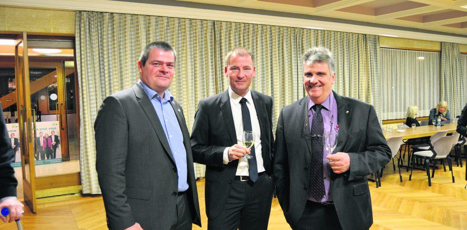 Philippe Modoux (à droite) en compagnie de Cédric Ottet et Nicolas Glauser